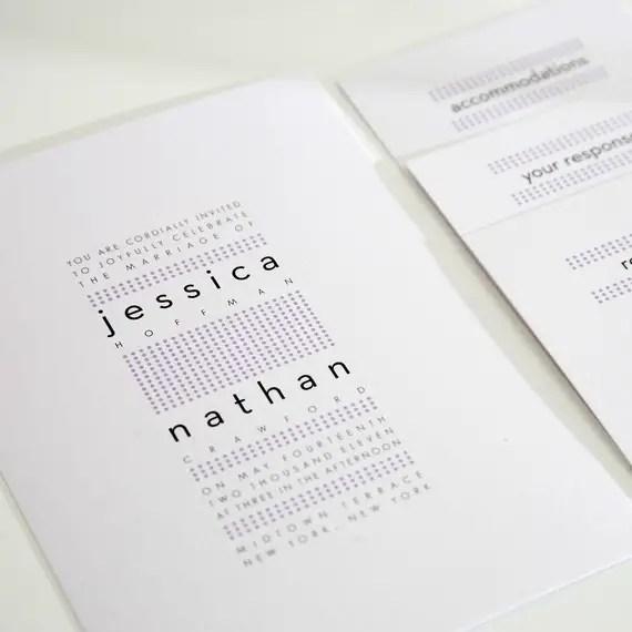 dots modern wedding invitations