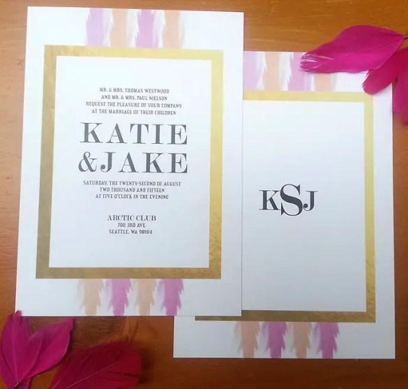 Gold Foil Wedding Invitations