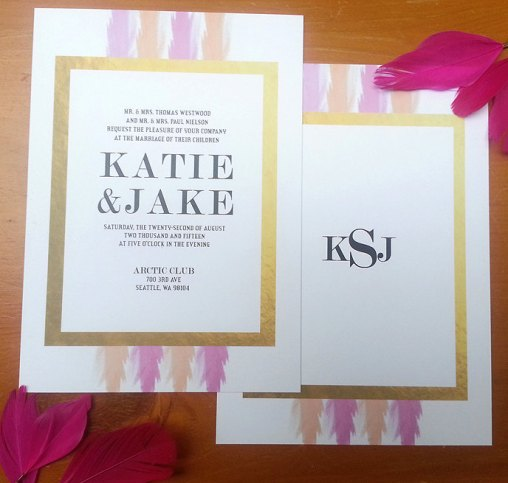 modern gold foil wedding invitations (3)
