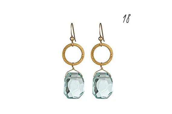 18 Modern Ideas for Something Blue via Emmaline Bride - earrings by Love of Pretty