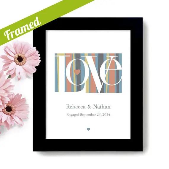 modern wedding theme print love   via wedding prints personalized by theme