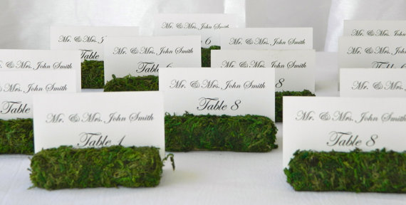moss table number holders
