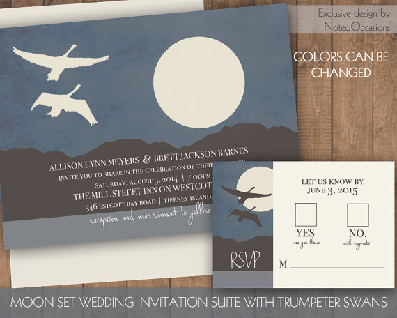 mountain printable wedding invitations