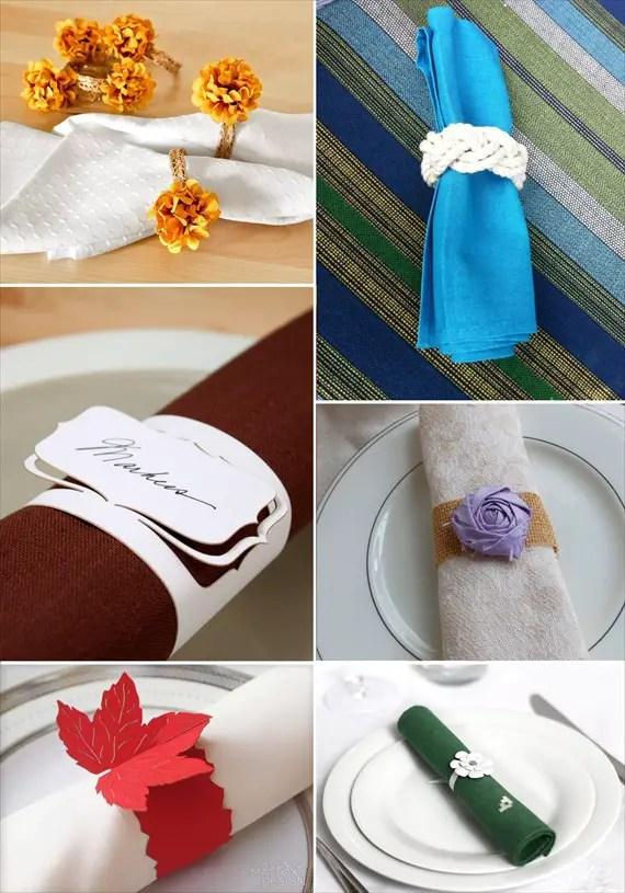 Napkin Ring Ideas For Wedding Receptions
