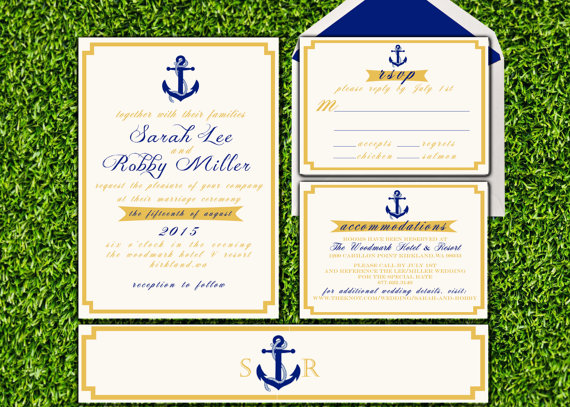 unique wedding invites | nautical