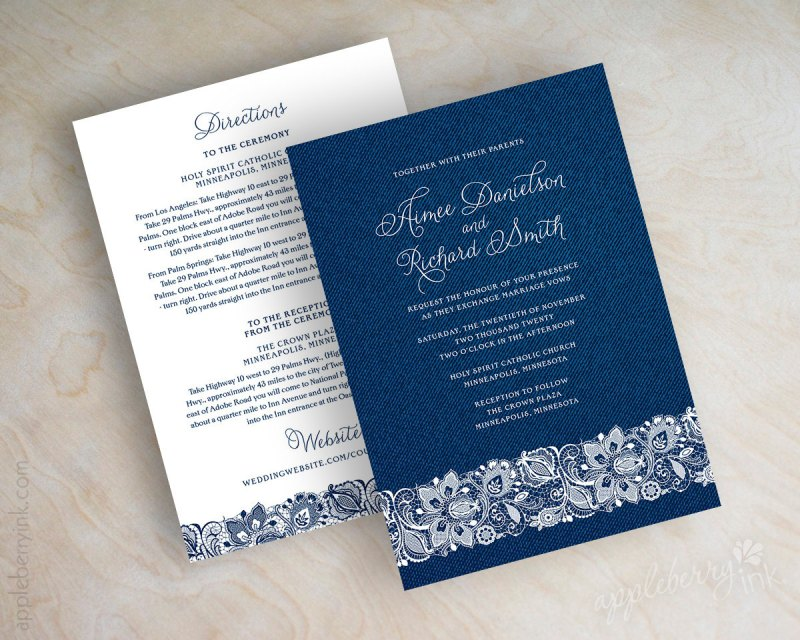 Navy Blue And White Wedding Invitations: Navy And White Wedding Ideas