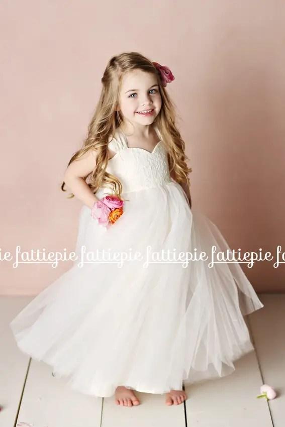 olivia flower girl dress (by Fattie Pie) - formal flower girl dresses #wedding
