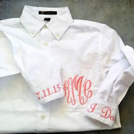 Button Down Wedding Shirt → Getting Ready Attire
