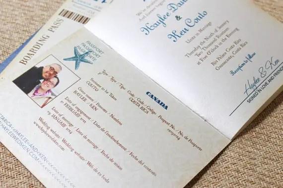 Destination Wedding Invitations Passport: Passport Wedding Invitation