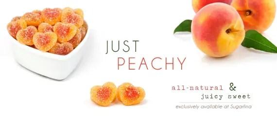 peach gummi hearts via best wedding resources
