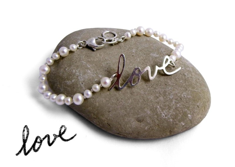 Handwriting Necklace or Bracelet | http://emmalinebride.com/bride/handwriting-necklace/