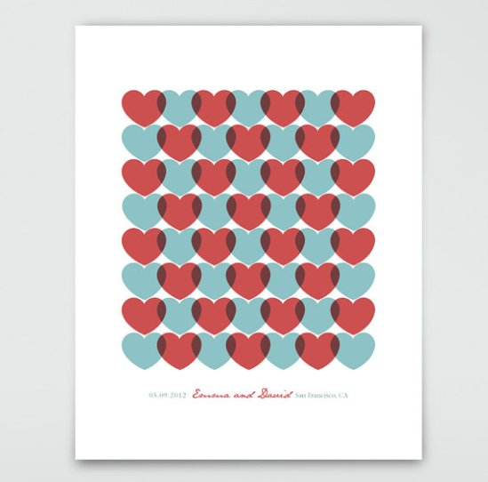 personalized anniversary print