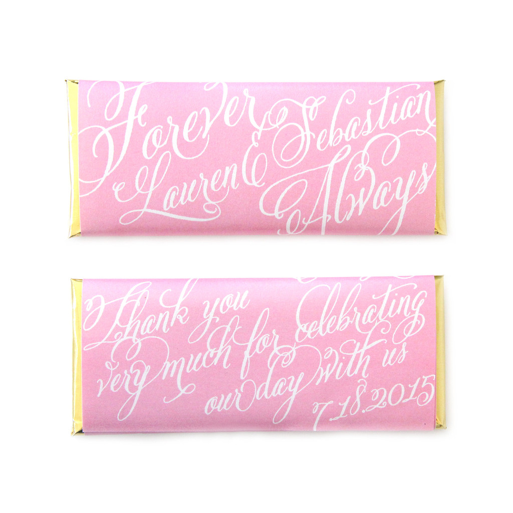 Personalized Candy Wrappers for Wedding Favors