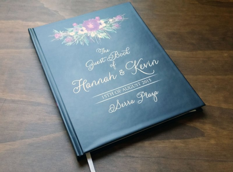 personalized guest book with chalkboard design