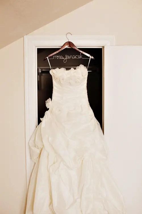 Wedding Dress Hangers 47 Cute personalized wedding hanger