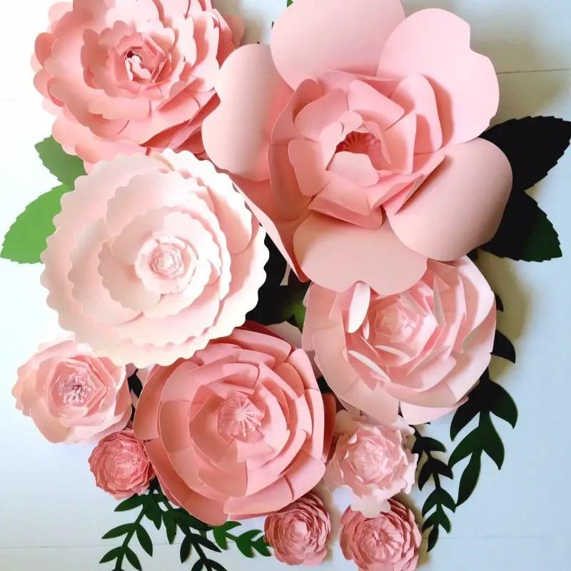 pink flower backdrop