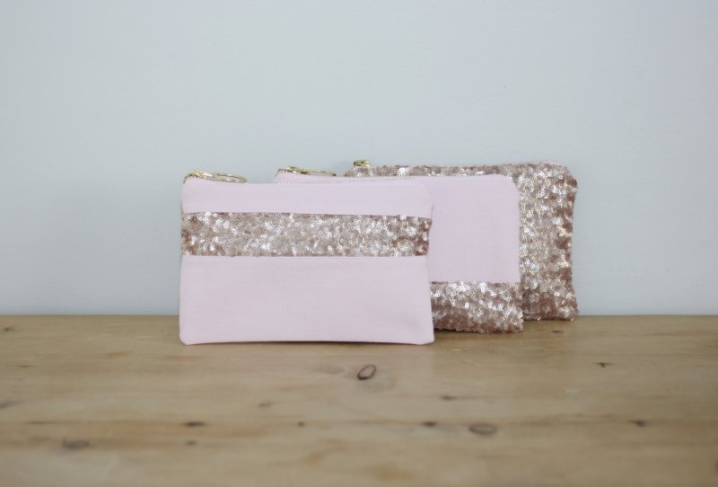 pink sequin clutch purse