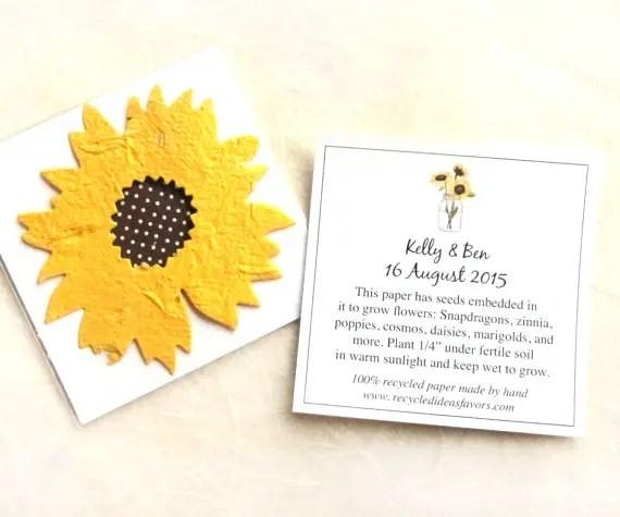 plantable seed favors by recycledideas | daisy ideas theme weddings
