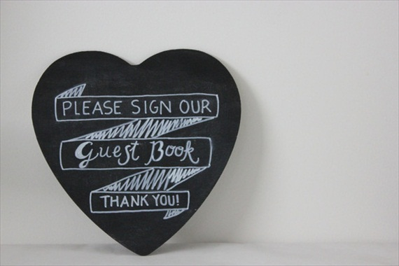 please sign our guest book chalkboard sign