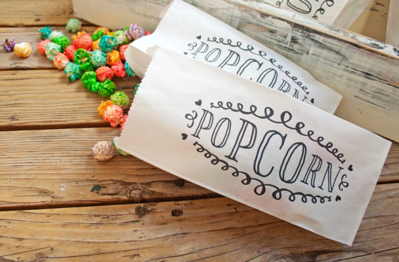 popcorn favors weddings