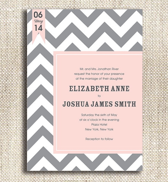 printable wedding invitation - custom wedding printables