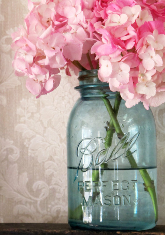 quart sized mason jar vase
