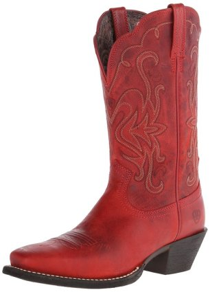 red cowboy boots