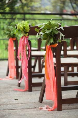 ribbon ceremony chair decor