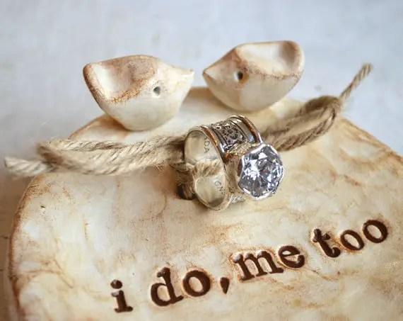 ring bearer dish - ring bearer pillow ideas