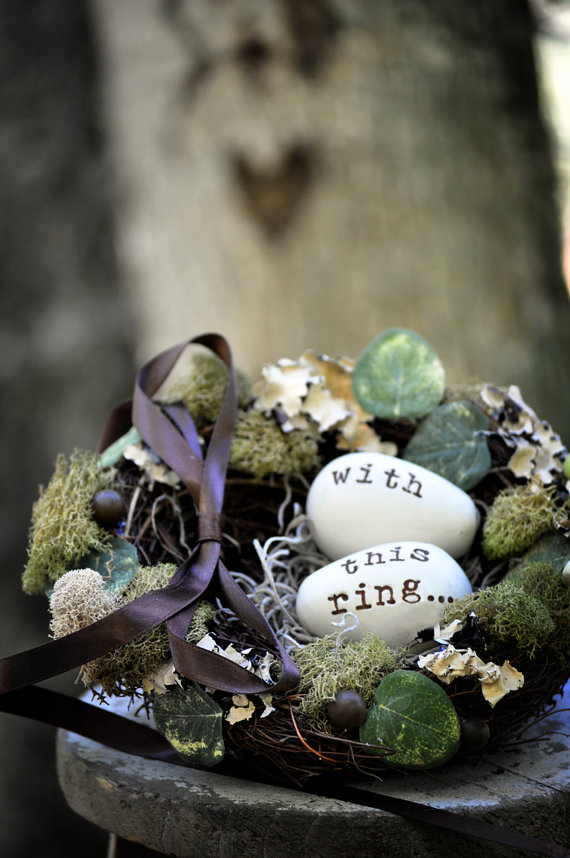 ring bearer nest - ring bearer pillow ideas