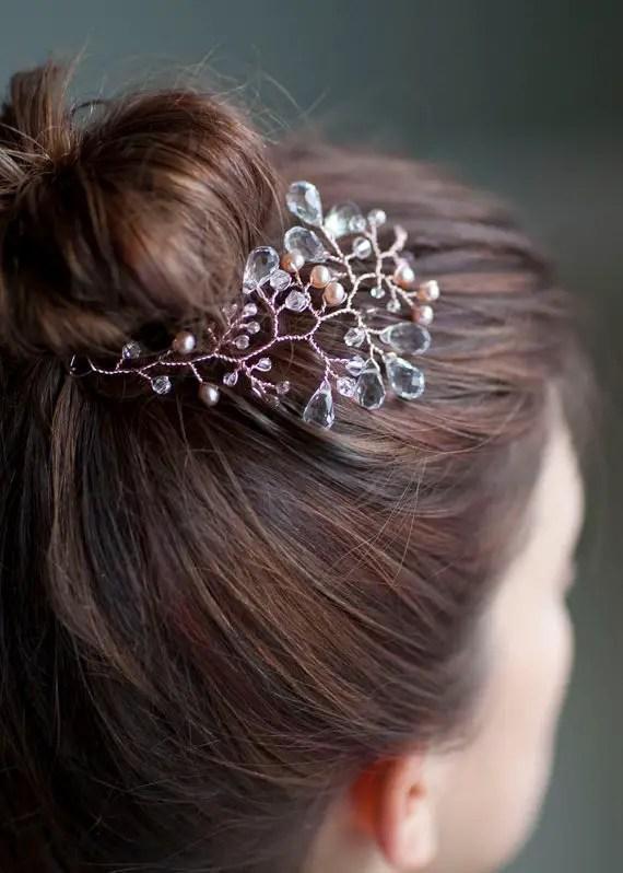 rose gold headpiece via 15 Stunning Wedding Veil Alternatives