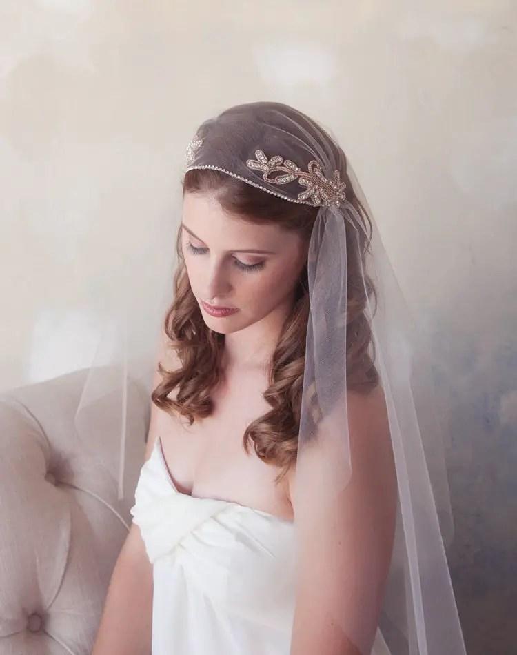 rose gold wedding veil | Rose Gold Wedding Ideas via http://emmalinebride.com/planning/rose-gold-wedding-ideas/