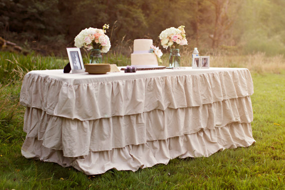 Take Cover  Ways To Cover Your Reception Tables - Wedding table linens