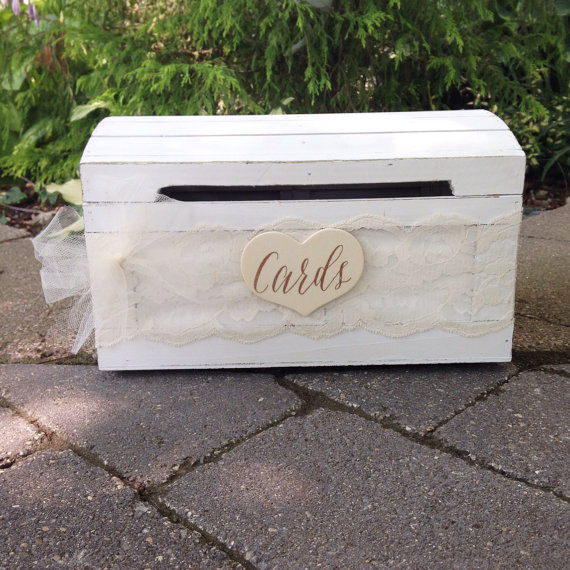 rustic card box front