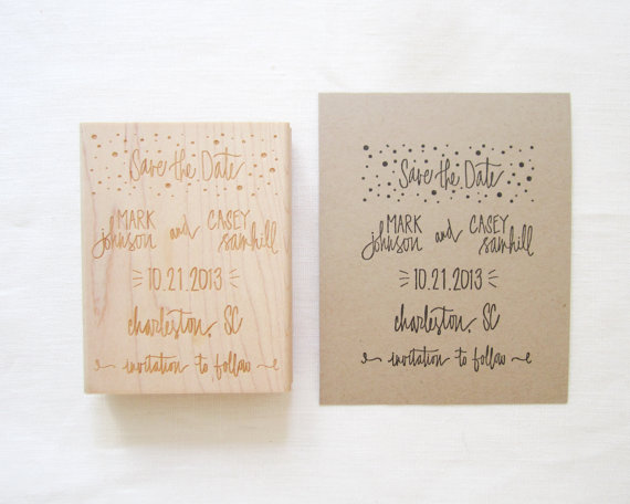 Custom Stamps for DIY Wedding Projects (by Paper Sushi)