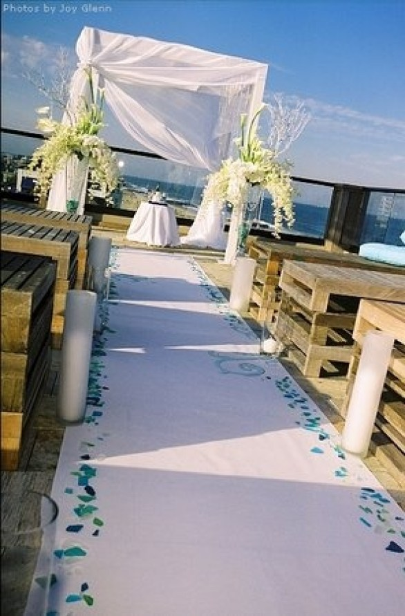 sea glass aisle runner