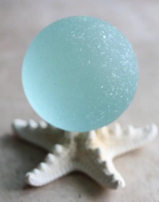 sea glass ball decor