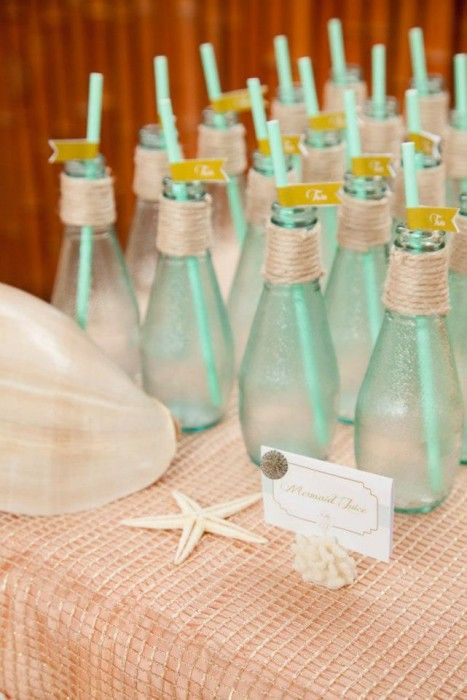 sea glass bottles