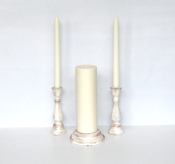 examples of rustic unity candle sets