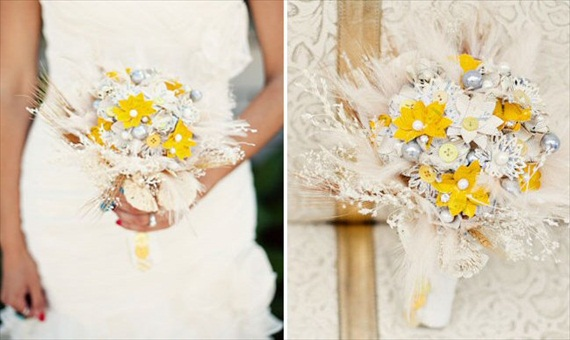 Faux Flower Bouquets - Sheet Music Bouquet (bouquet: surroundings online, photo by ashley rose)