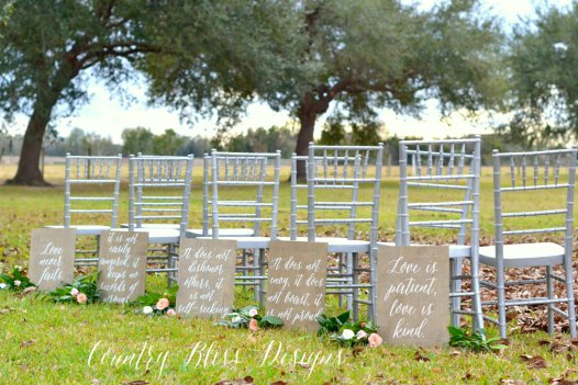 Wedding Reading Love Is Patient: Love Is Patient Aisle Signs Look Beautiful For Weddings