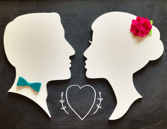 6 Clever Ways to Personalize Your Wedding (silhouettes: pinwheel fair)