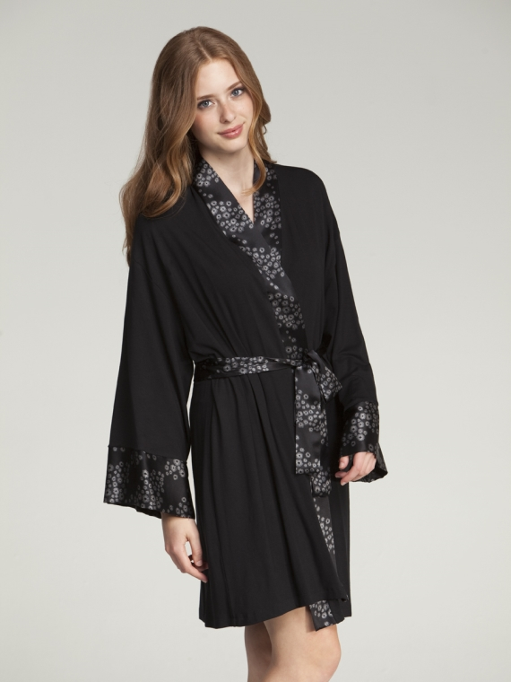 silk trim robe