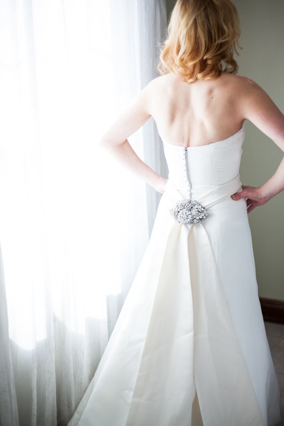 silver dress sash