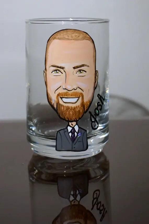single shot glass via personalized glassware gifts   http://emmalinebride.com/bridesmaids/personalized-glassware-gifts/
