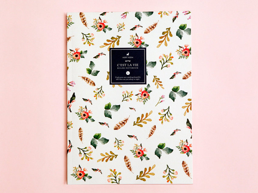 slim floral travel journal | gifts bridesmaids travel | http://emmalinebride.com/gifts/gifts-bridesmaids-travel