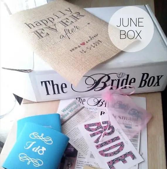 Subscription Box for Brides -- The Bride Box - June box