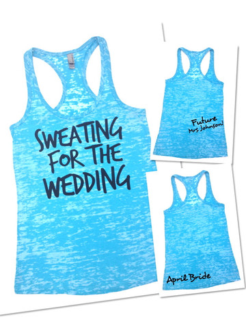 Wedding workout tips | Get a cute sweating for the wedding tank top to motivate you.