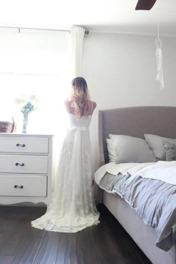 sweetheart wedding gown back