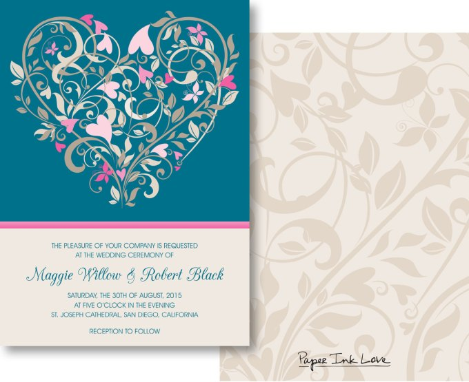 printables - for when you need wedding invitations fast